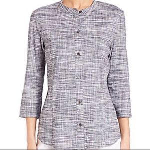Theory Linen Blend Button Down Top Size Medium